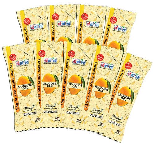 Glucose gel pack of 9 (Mango)