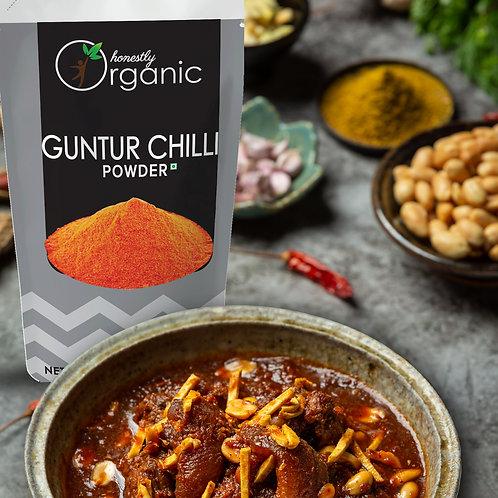 Honeslty Organic Guntur Chilli Powder / Guntoor Mirchi Powder