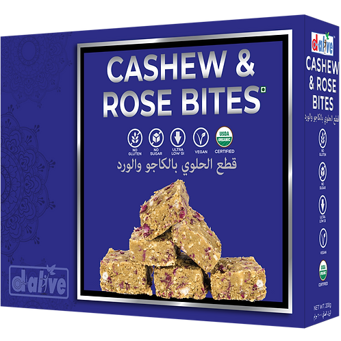 Cashew and rose bites