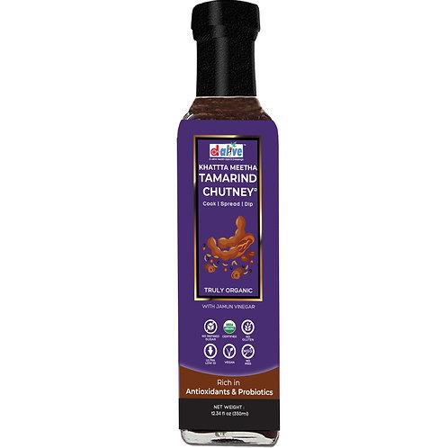 D-Alive Tamarind Chutney (Dipping & Cooking) Sauce - 350g (Sugar-Free, Organic)