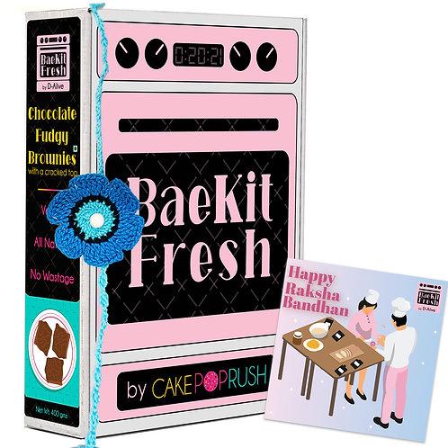 Rakshabandhan Gift Hamper: BaeKit Fresh Chocolate Fudgy Brownie by CakePopRush