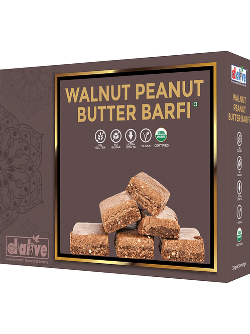 Organic Walnut Peanut Butter Barfi - 200g