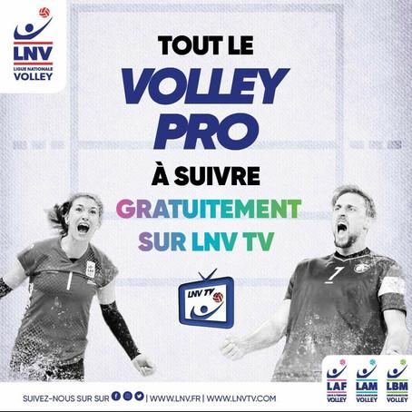 Suivez le volley gratuitement sur LNV TV