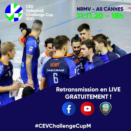 Coupe d'Europe : NRMV - CANNES à suivre en direct