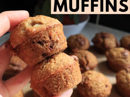 Gluten Free Banana Chocolate Chip Mini Muffins (DF option)