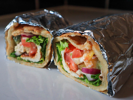 Gluten Free Halloumi Wraps