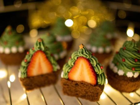 Gluten Free Christmas Tree Cupcakes