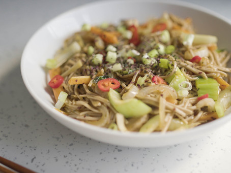 Gluten Free and Vegan Yakisoba