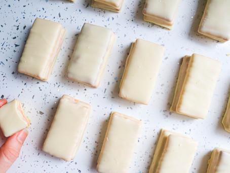 White chocolate and Strawberry Tim Tams