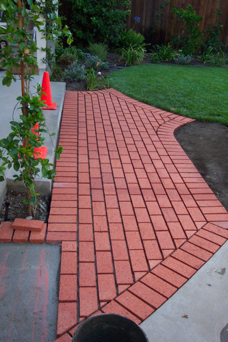 Brick Patio Deck - After