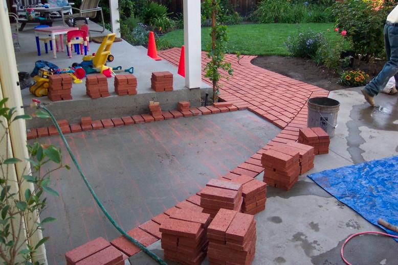 Brick Patio Deck - Before