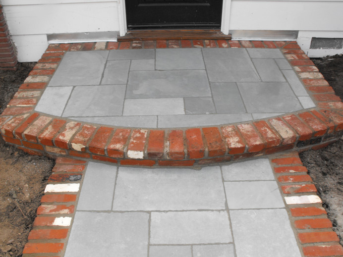 Slate and Brick Harscaping