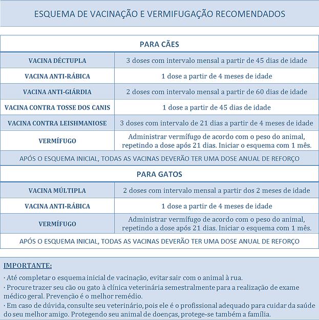 Esquema de vacinação e vermifugação recomendados, esquema de vacinação, esquema de vermifugação, Esquema de vacinação e vermifugação nos primeiros dias, Esquema de vacinação e vermifugação em cães e gatos