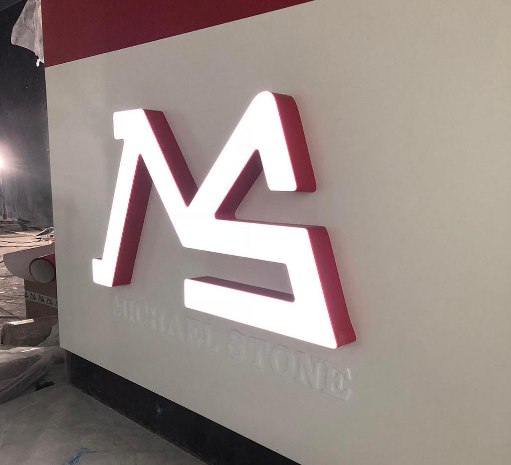 Логотип на стойку ресепшен