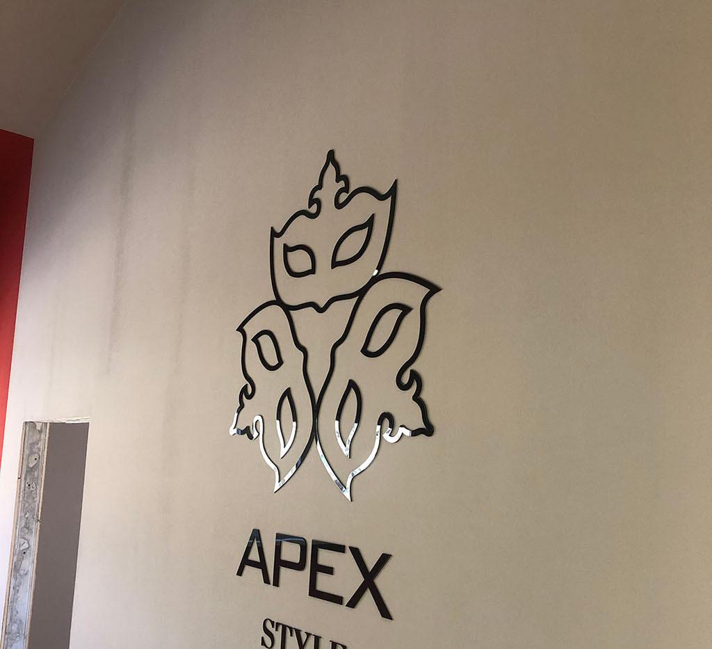 Логотип настенный из чёрного акрила