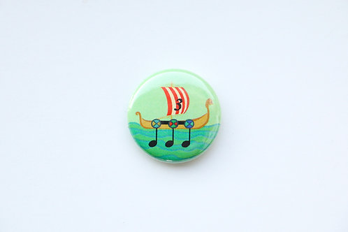 Triplet - Viking Ship Button