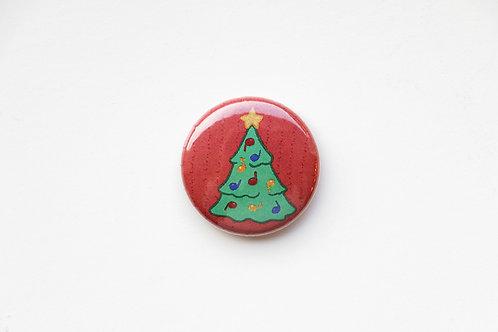 Musical Christmas Tree Button