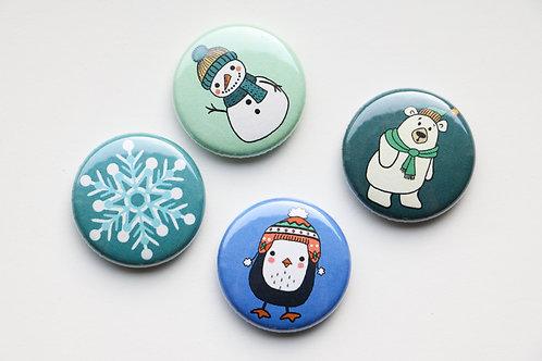 Winter Fun Pack (4 Buttons)