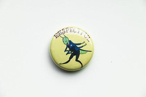 Respectful Grasshopper Button