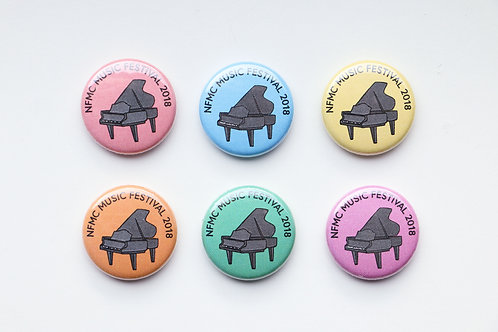 NFMC Festival 2018 Button - Assorted Colors