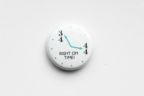 Time Signatures - Right on Time Button