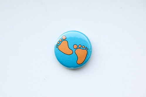 Half Step - Little Foot Prints Button