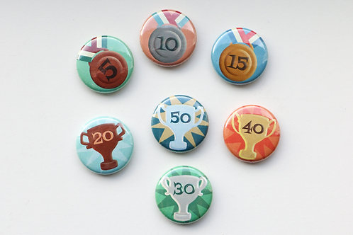 40 (or 50) Piece Challenge Award Buttons