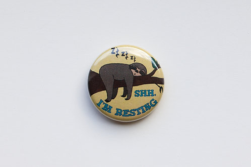 Quarter Rests - Sleeping Sloth Button