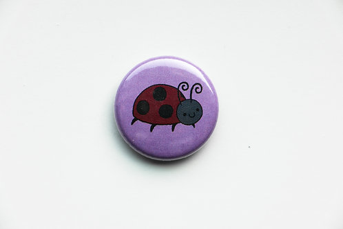 Round Hand Shape - Ladybug Button