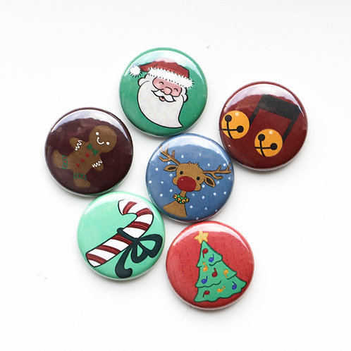 Christmas Pack (6 Buttons)