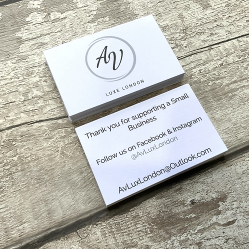 350gsm Double sided Standard Business Cards