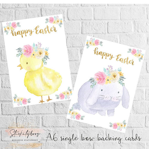 A6 Easter Bow Cards