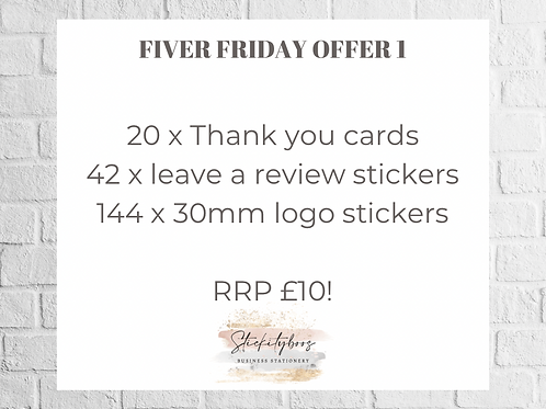 Fiver Friday offer 1