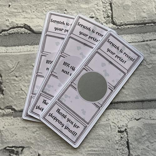 Custom Cut Wax Snap bar Scratch Cards