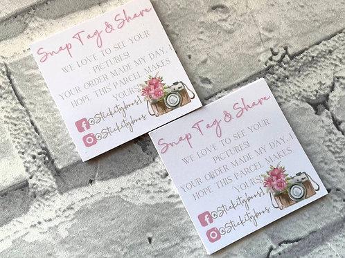 Mini Snap & Tag Cards