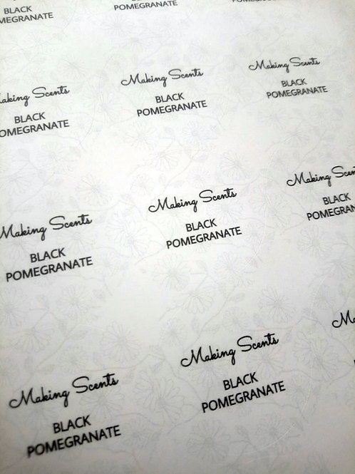 Wax fragrance Product name labels