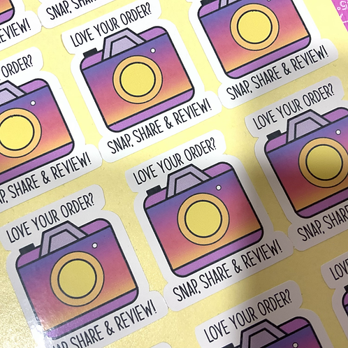 Instagram love your order stickers