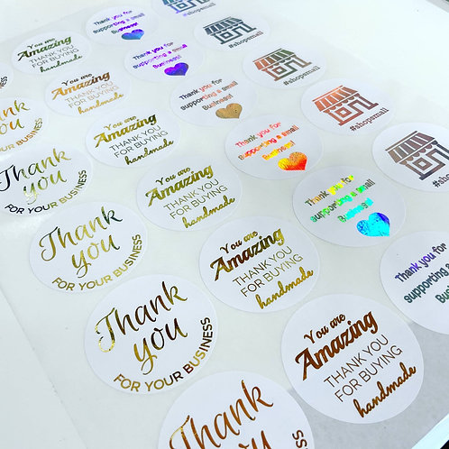 Foiled Mixed Business Stickers