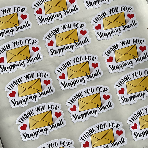 Thank you for shopping small custom cut stickers