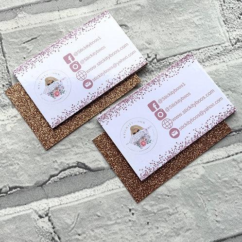 Glitter back Business Cards