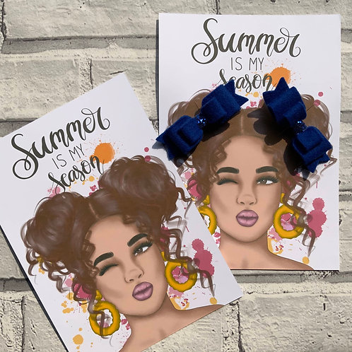 A5 Summer Girl Backing Cards