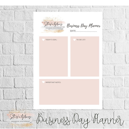 Business Day planner