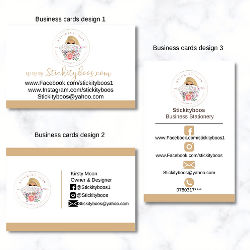 Single Sided Standard Business Cards
