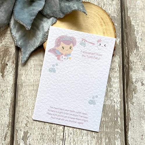 A6 Tooth Fairy Bow Backing Cards
