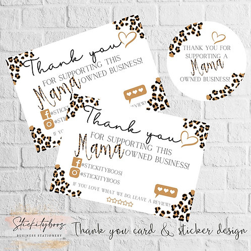 Thanks for supporting a Mama owned business stickers