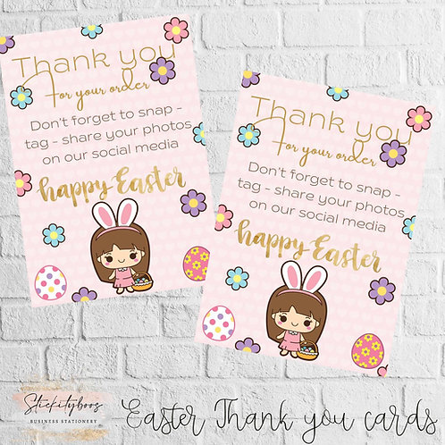A6 Easter Thank you Cards
