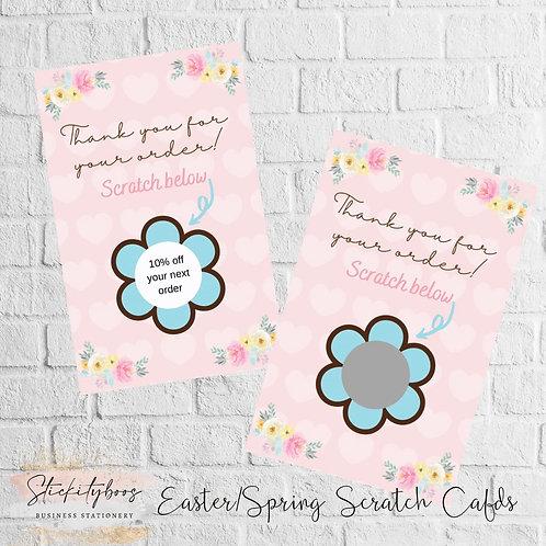 Easter/Spring Scratch Cards