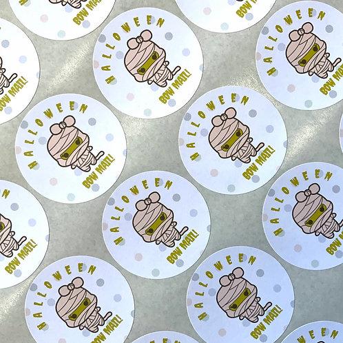 Kawaii Halloween Bow Mail Stickers