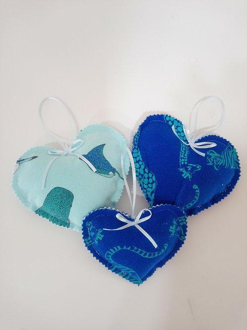 Keepsake Hugs The Memory Bear Company Hanging Hearts made from clothing