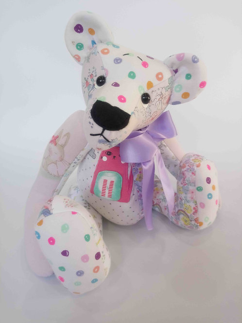 luxury memory bear made from babygros
